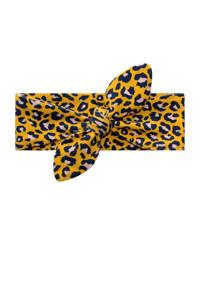 Your Wishes tijgerprint haarband geel, Okergeel/zwart/wit