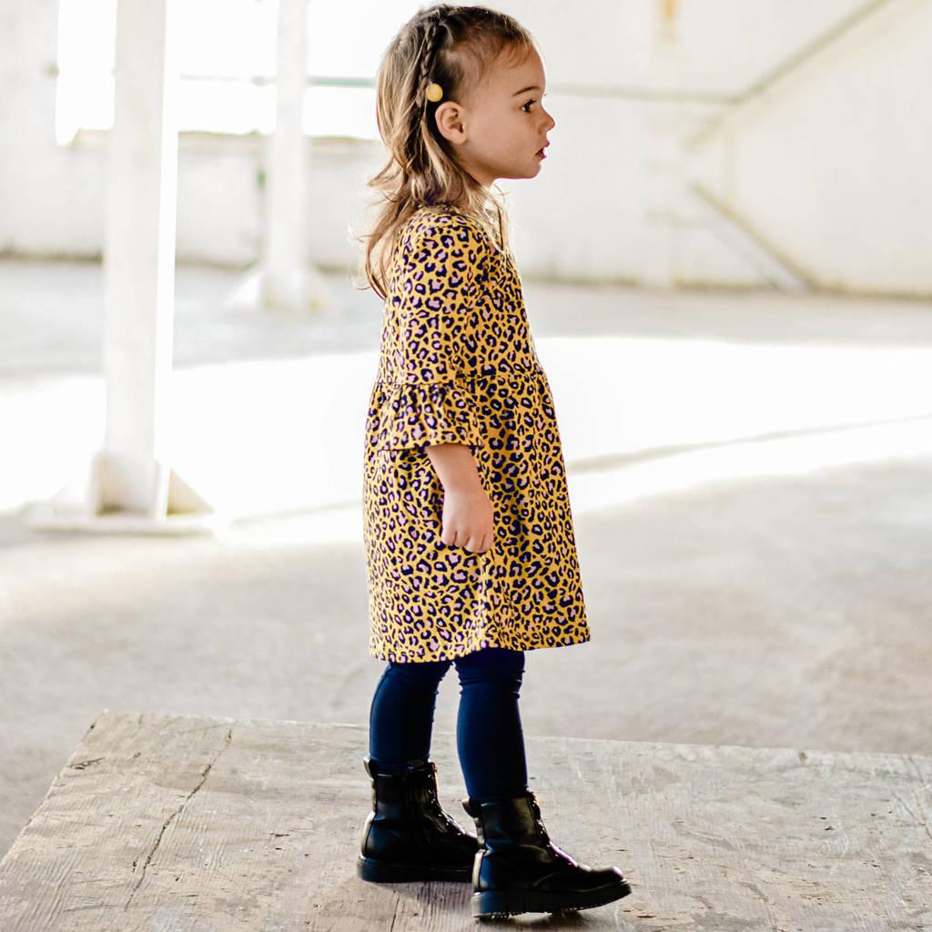 Your Wishes baby jurk met biologisch katoen okergeel/zwart/wit, Okergeel/zwart/wit