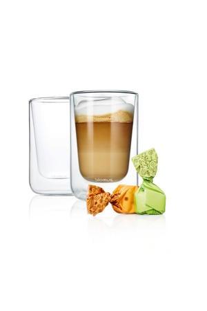 dubbelwandige glazen cappuccino Nero (25 cl) (set van 2)