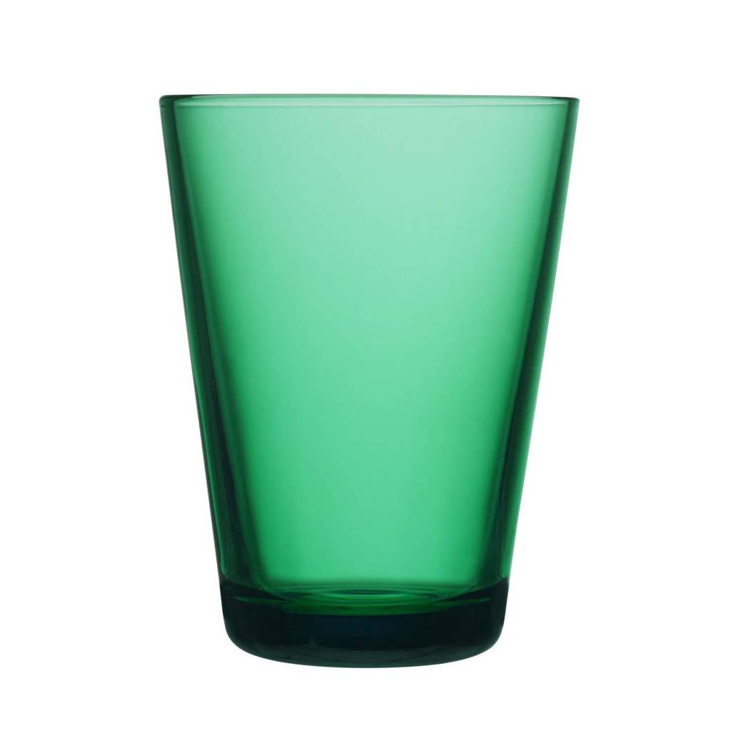 Iittala Kartio glas 40cl emerald 2 stuks, Groen