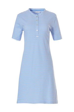 gestreept nachthemd blauw/wit