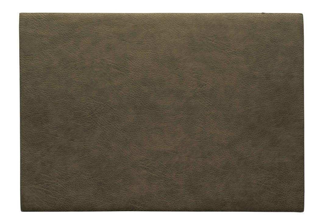 ASA Selection placemat Leer (33x46 cm), Khaki