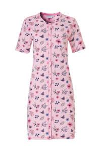 Pastunette nachthemd met all over print roze, Roze
