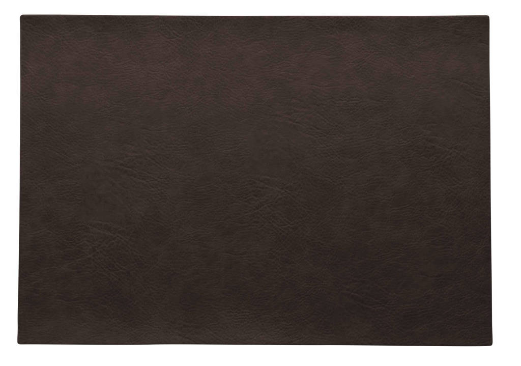 ASA Selection placemat Leer (33x46 cm), Black Coffee