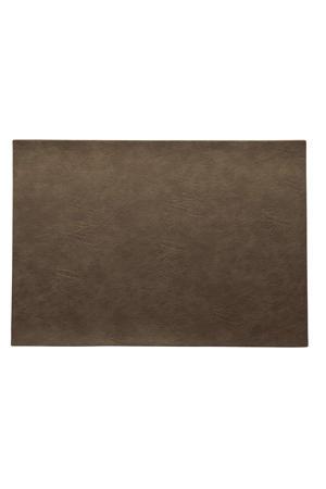 placemat leer Nougat 33x46 cm