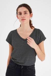 ICHI T-shirt, Zwart/wit