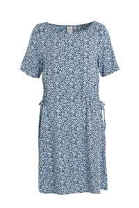ICHI jersey jurk met all over print lichtblauw, Lichtblauw