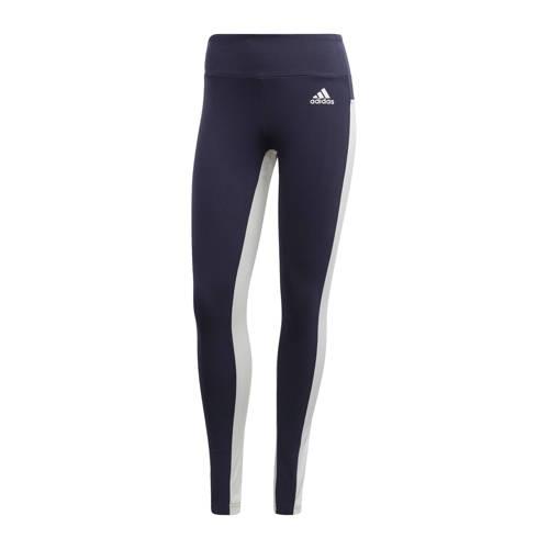 adidas performance sportbroek donkerblauw-wit