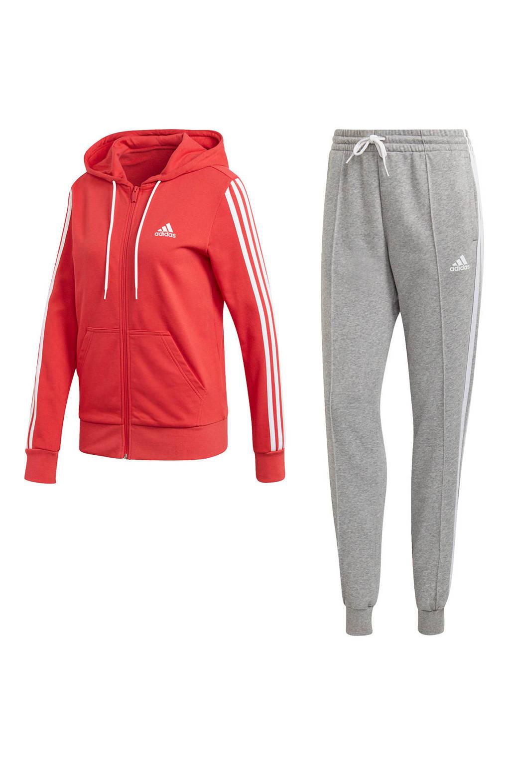 adidas Performance trainingspak rood/grijs, Rood/grijs
