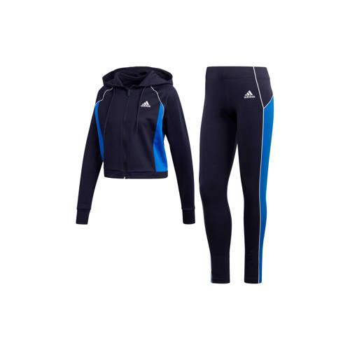 adidas performance trainingspak donkerblauw-blauw