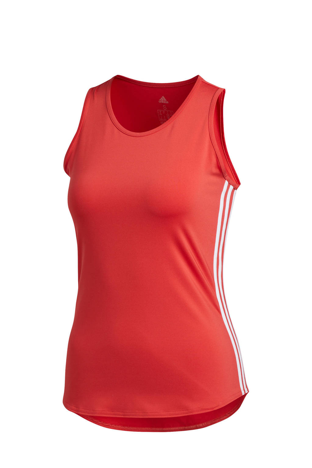 adidas Performance sporttop rood/wit, Rood/wit