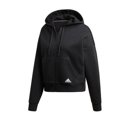 adidas Performance capuchonsweatvest W MH 3 STRIPES DK HOODY