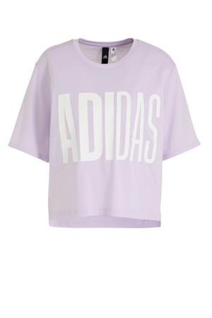 cropped sport T-shirt lila
