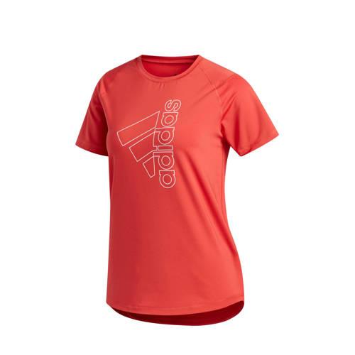 adidas Performance sport T-shirt rood