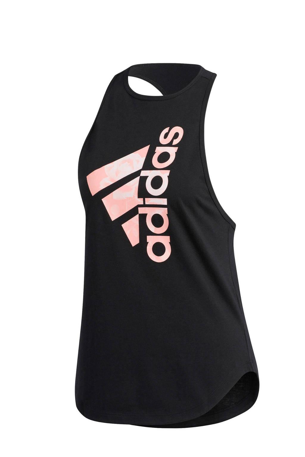 adidas Performance sporttop zwart/lichtroze, Zwart/lichtroze