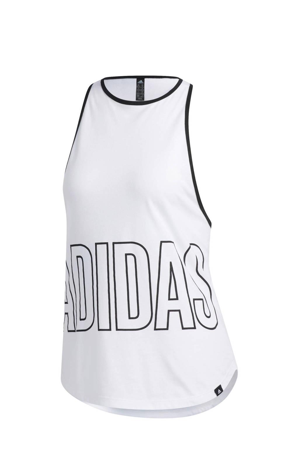 adidas Performance sporttop wit/zwart, Wit/zwart