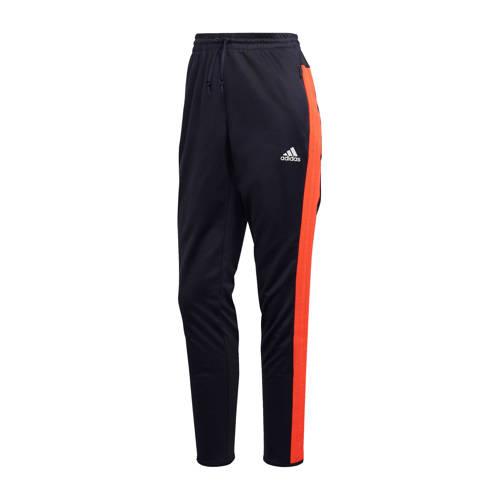 adidas performance sportbroek donkerblauw-oranje