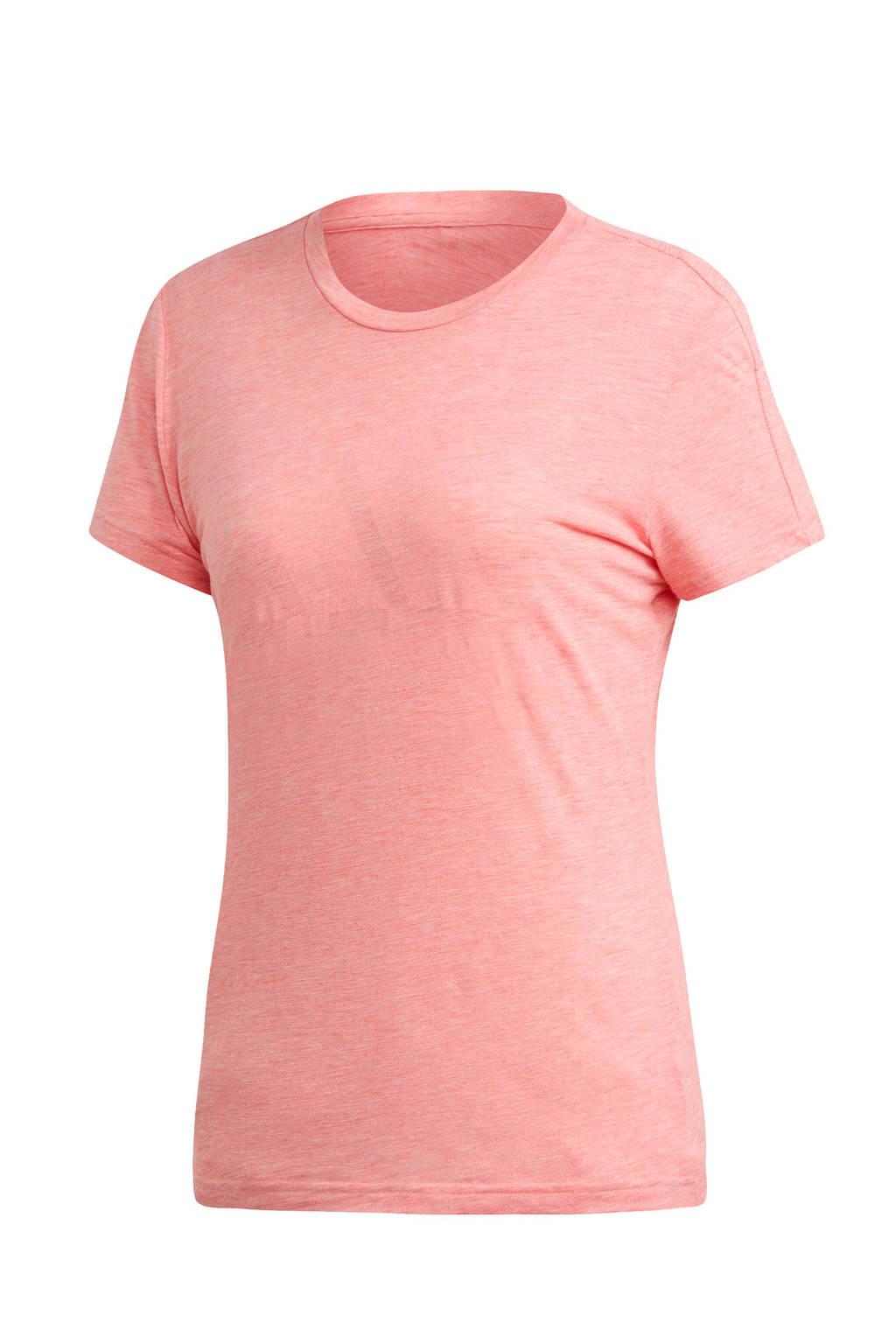 adidas Performance sport T-shirt rood/roze, Rood/roze