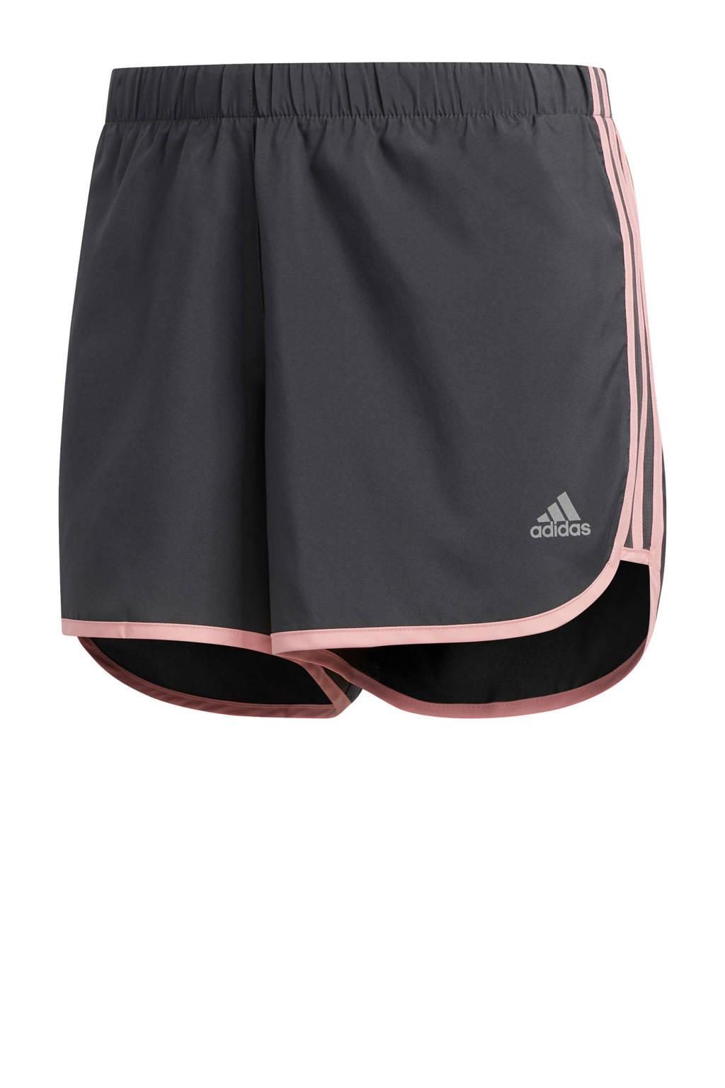 adidas Performance hardloopshort antraciet/roze, Antraciet/roze