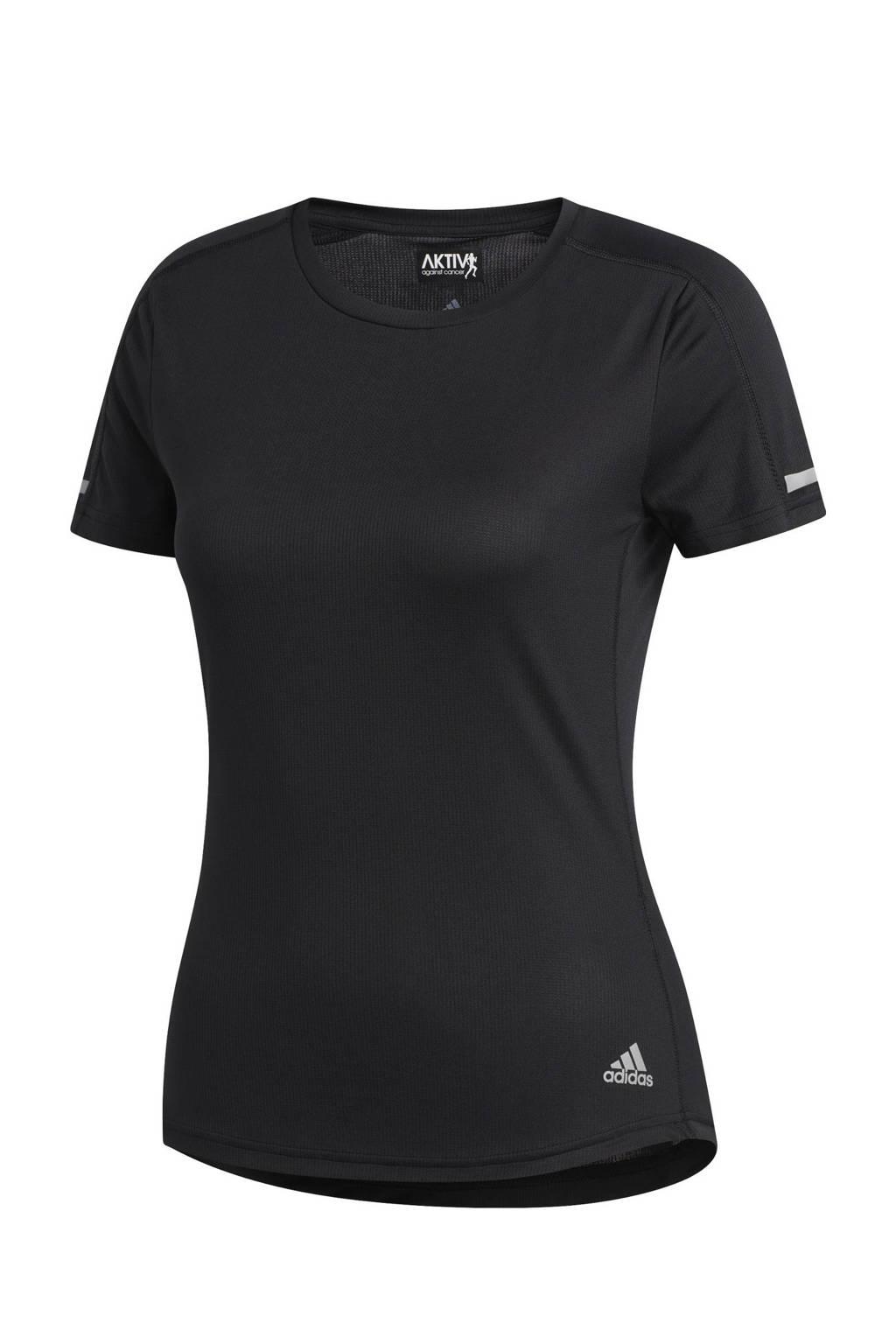 adidas Performance Run It hardloop T-shirt zwart, Zwart