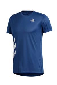 adidas Performance   hardloopshirt donkerblauw, Donkerblauw