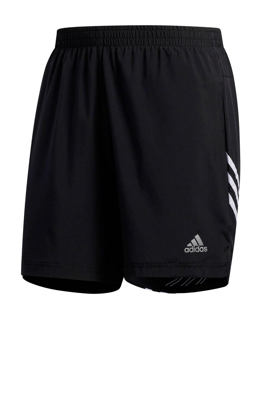 adidas Performance   hardloop short zwart, Zwart