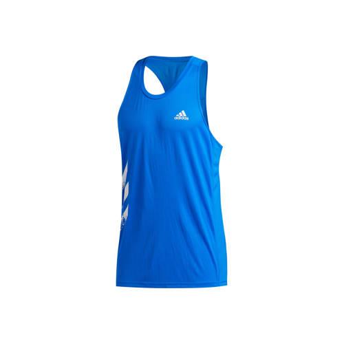 adidas Performance hardloopsinglet blauw