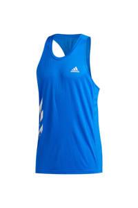 adidas Performance   hardloopsinglet blauw, Blauw