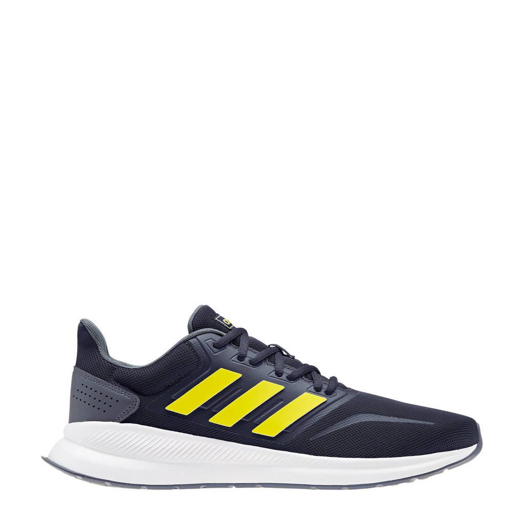 adidas Performance   Runfalcon hardloopschoenen donkerblauw/geel/wit, Donkerblauw/geel/wit, Heren