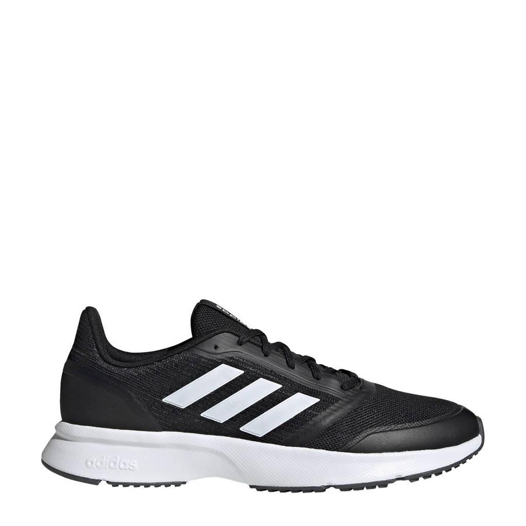 adidas Performance Nova Flow  hardloopschoenen zwart/wit, Zwart/wit, Heren