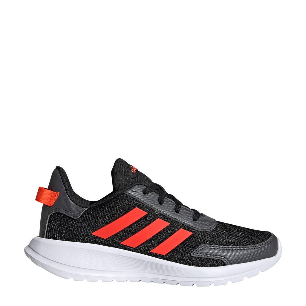 adidas Tensaur Run K hardloopschoenen zwart/rood kids, Zwart/grijs/rood