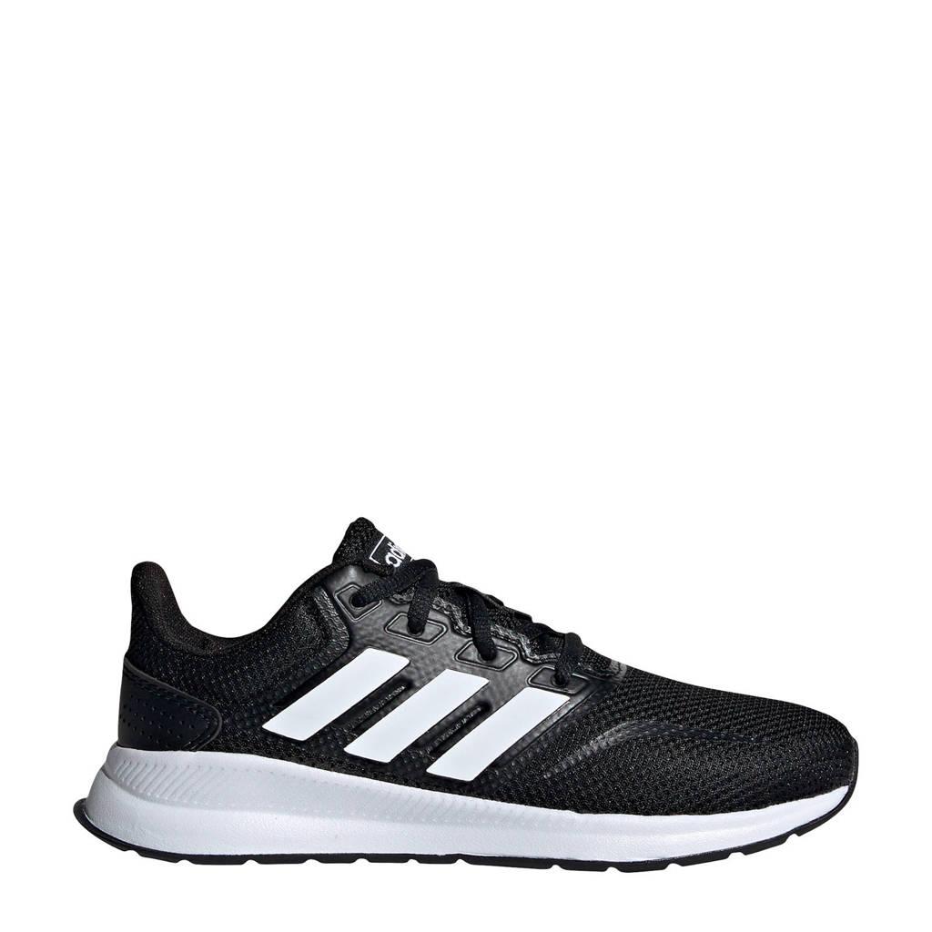adidas Performance Run Falcon  hardloopschoenen zwart/wit kids, Zwart/wit, Jongens/meisjes