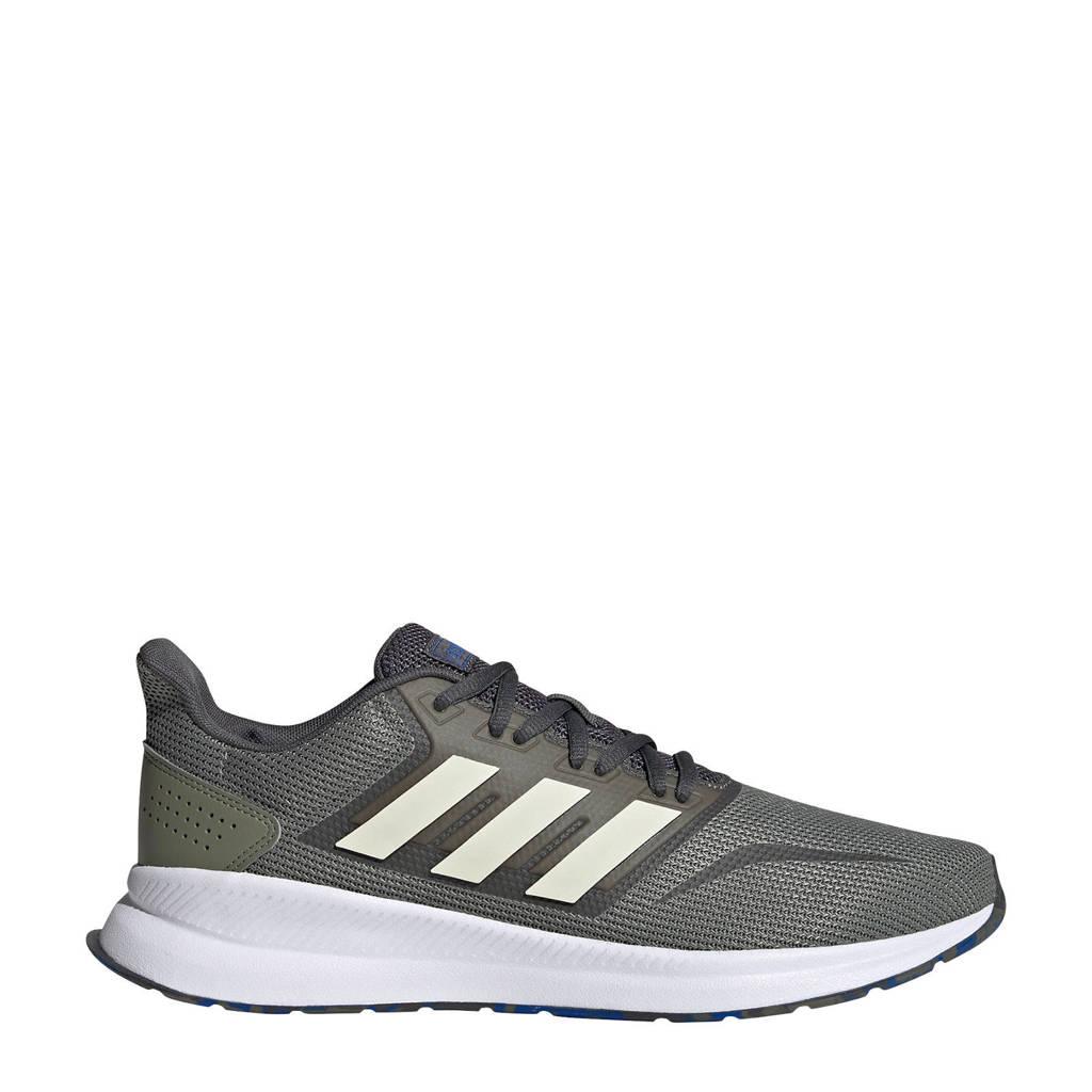 adidas Performance Runfalcon  hardloopschoenen groen/zand/grijs, Groen/ecru, Heren