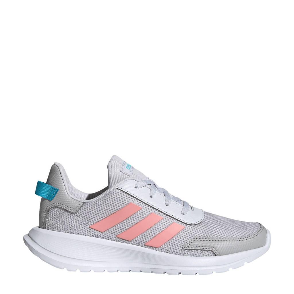 adidas Performance Tensaur Run K hardloopschoenen lichtgrijs/roze kids, Lichtgrijs/roze