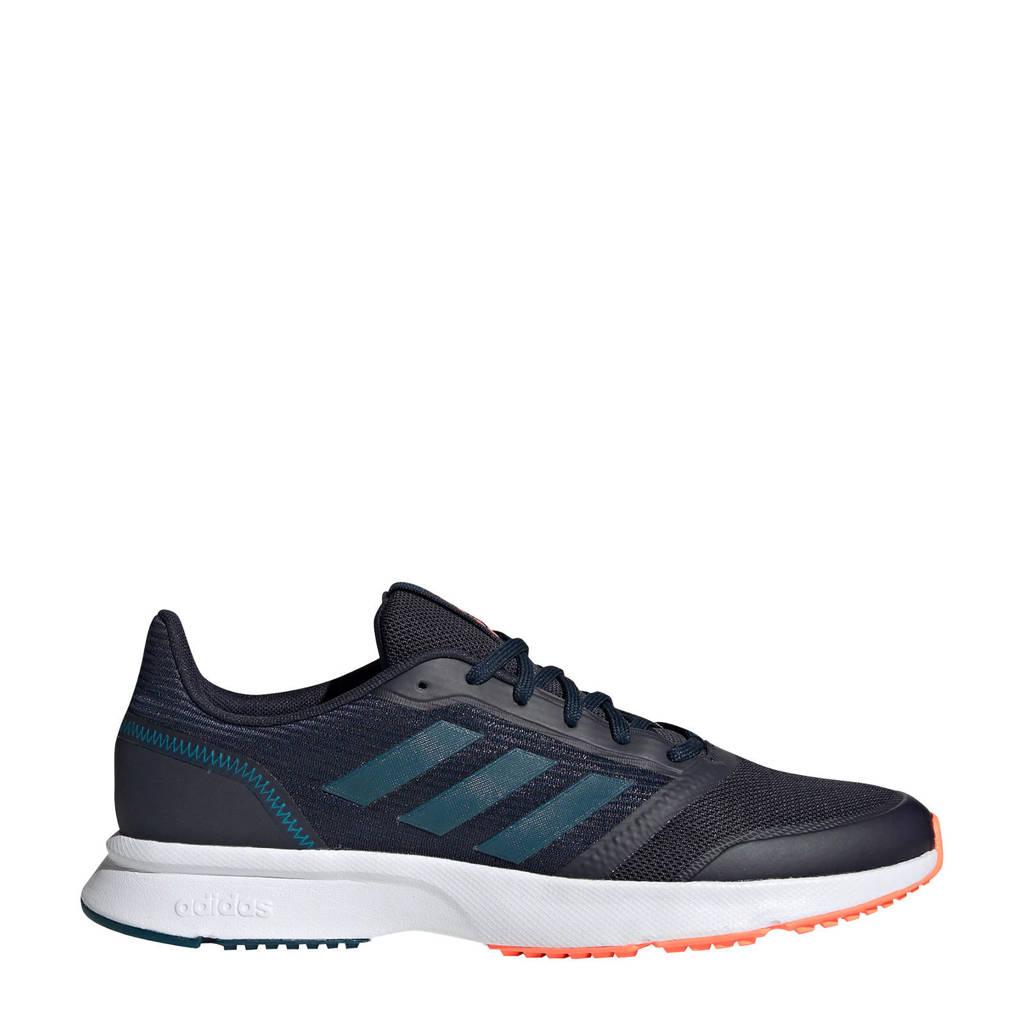 adidas Nova Flow  hardloopschoenen donkerblauw/wit, Donkerblauw/wit, Heren