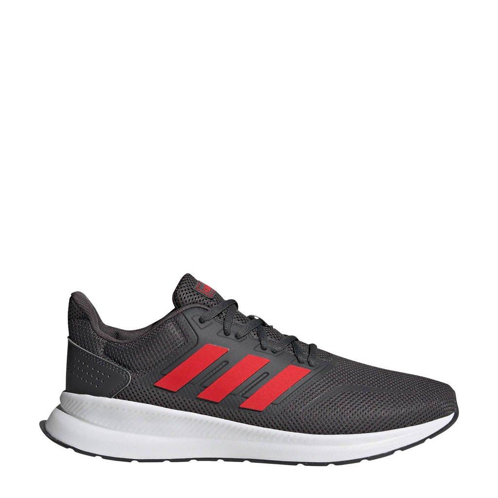 adidas Runfalcon  hardloopschoenen grijs/roze/wit, Grijs/rood/wit