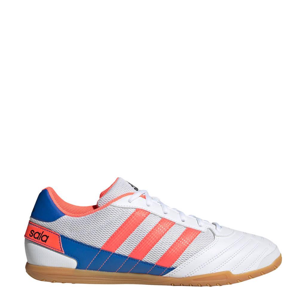 adidas Performance Super Sala  Sr. zaalvoetbalschoenen wit/koraal/blauw, Wit/koraal/blauw
