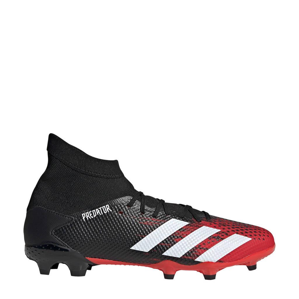 adidas Performance Predator 20.3 FG voetbalschoenen zwart/rood, Zwart/rood