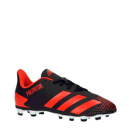 adidas performance Predator 20.4 FxG voetbalschoenen zwart-rood