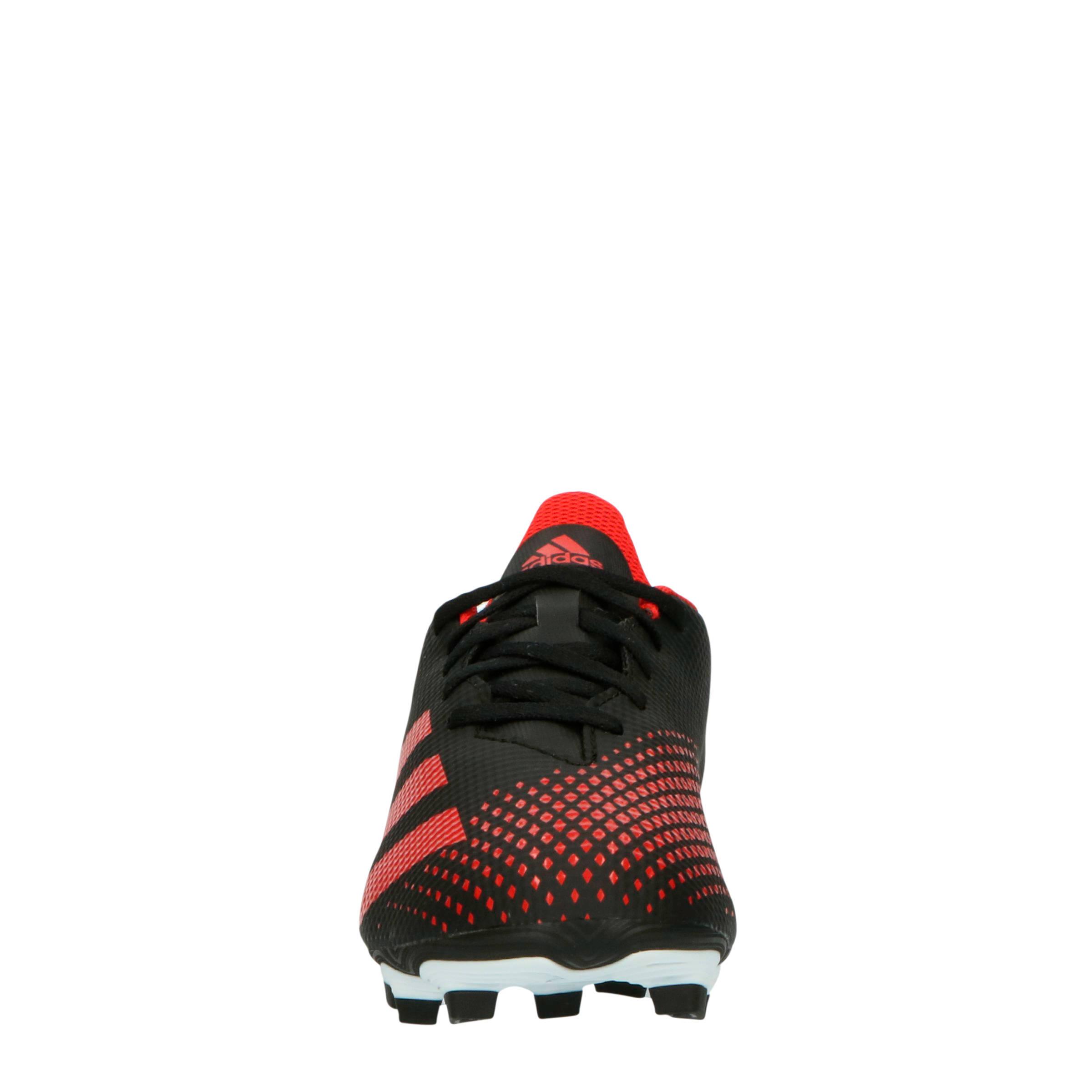 Predator 20.4 FxG voetbalschoenen zwartroodwit