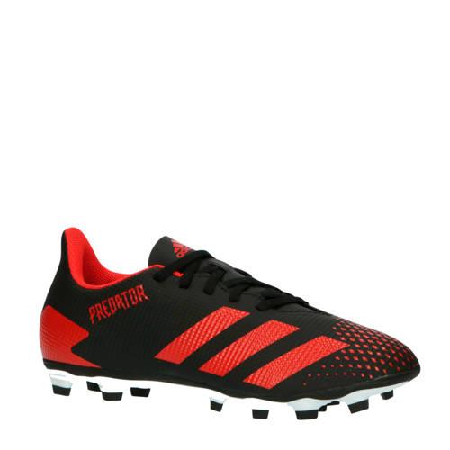 adidas performance Predator 20.4 FxG voetbalschoenen zwart-rood-wit