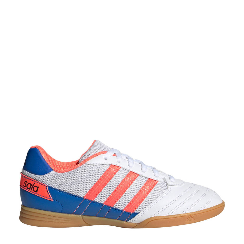 adidas Performance Super Sala  zaalvoetbalschoenen wit/koraal/blauw, Wit/koraal/blauw