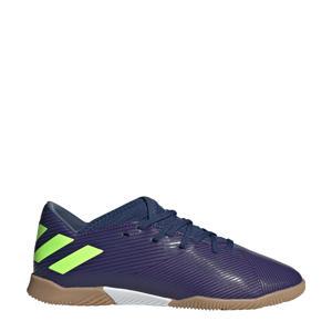 voetbalschoenen donkerblauw/limoengroen