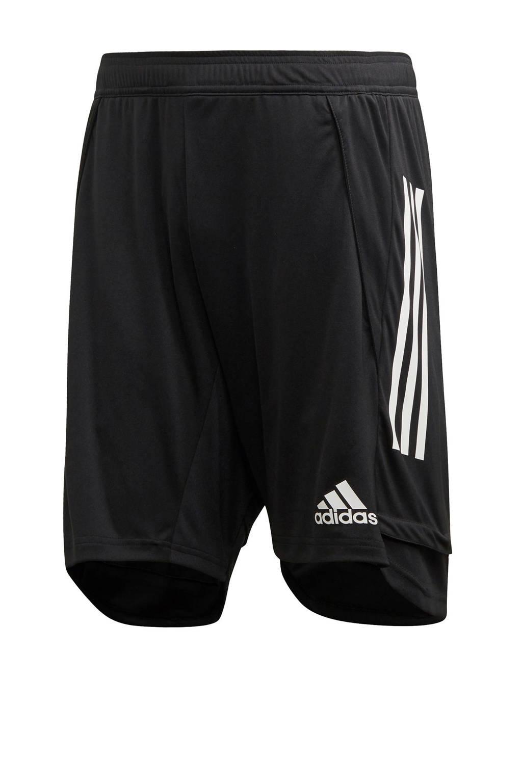 adidas   sportshort Condivo zwart, Zwart/wit