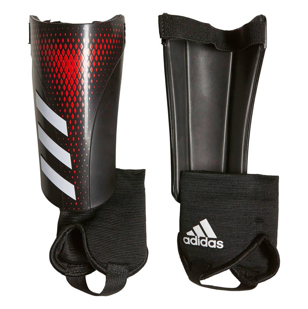 adidas Junior  Predator Sg Mtc scheenbeschermers zwart/rood, Zwart/rood