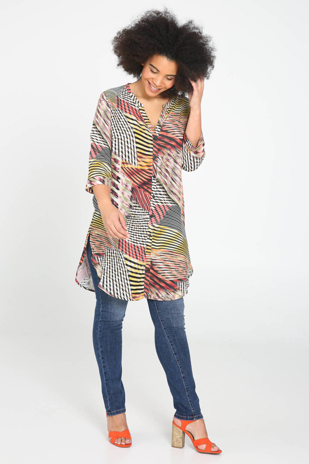 Paprika blouse met all over print multi, Multi