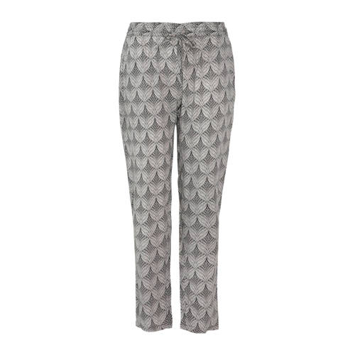 Paprika straight fit broek met all over print zwar