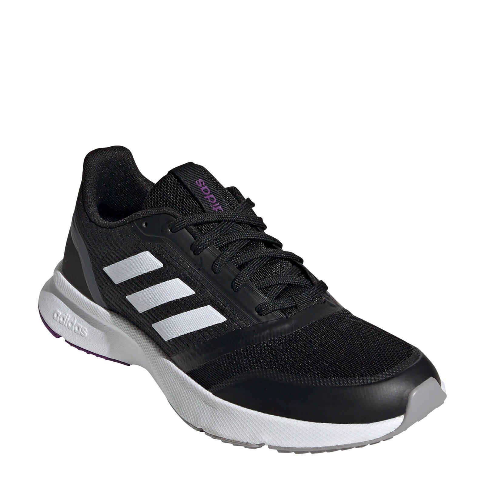 adidas Performance Nova Flow hardloopschoenen zwart/wit ...