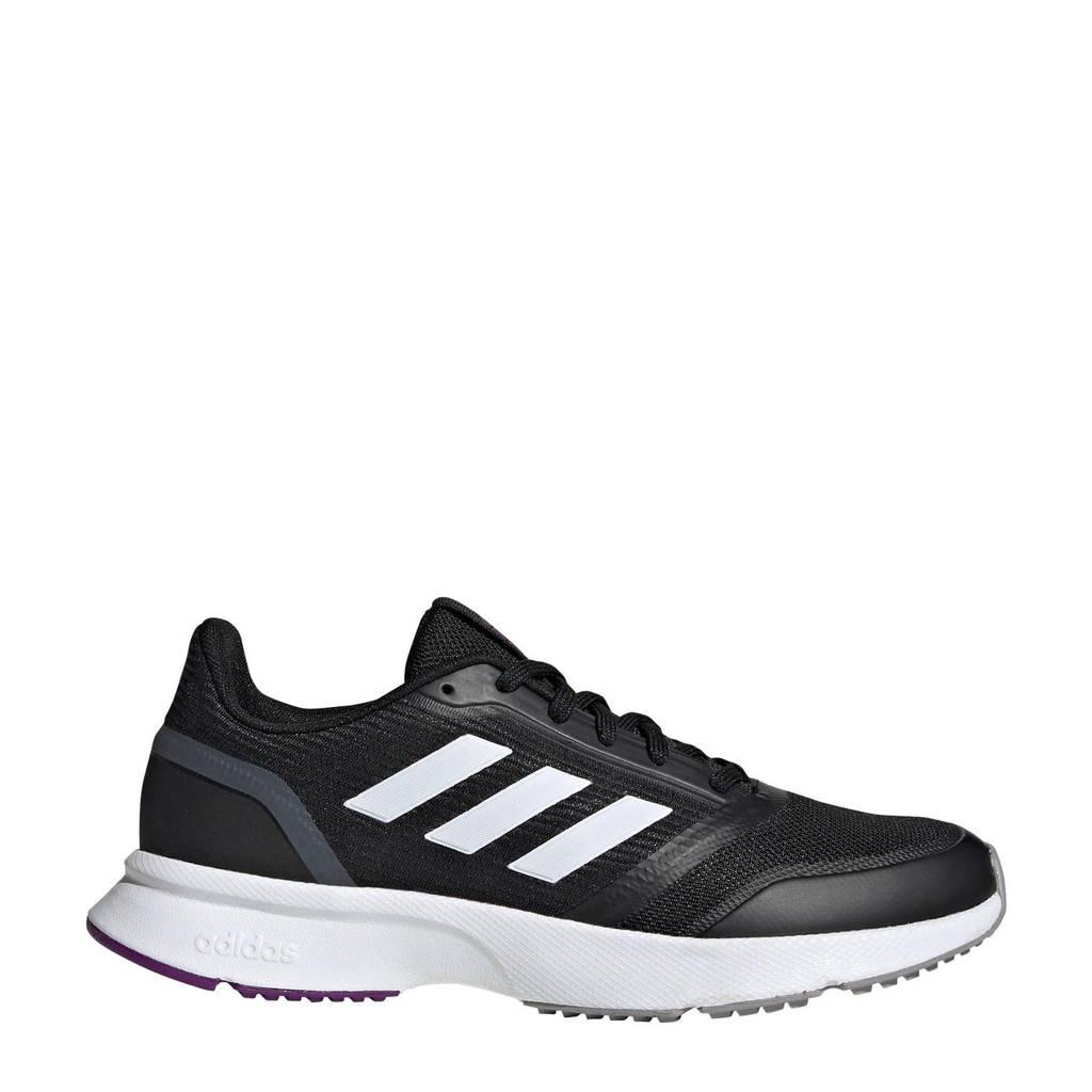 adidas Performance Nova Flow  hardloopschoenen zwart/wit, Zwart/wit, Dames