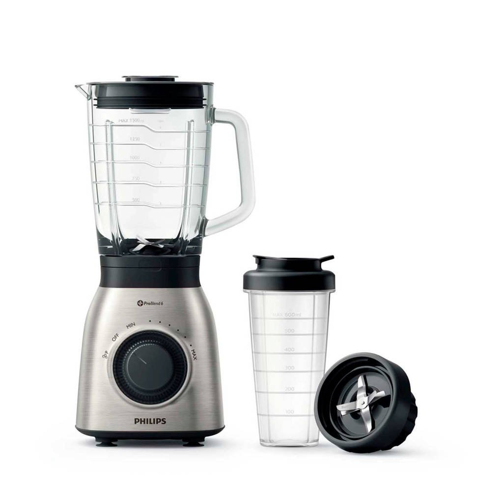 Philips HR3556/00 blender, Zwart, zilver